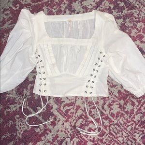 Free people size small white corset top